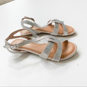 Forever Silver Sandals